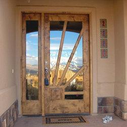entry doors - Sunburst entry door by Woodsmith Custom Millwork