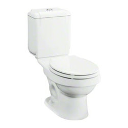 "STERLING PLUMBING - STERLING Rockton(TM) 12"" Rough-in Round-Front Toilet with Dual Force(R) Technolo - The Rockton toilet with Dual Force technology delivers precision engineered performance and meets strict water conservation standards, providing years of trouble-free operation. The geometric tank design echoes contemporary style in any bath or powder room."