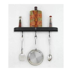 Hi-Lite MFG - Fleur De Liz 24 in. Wall Rack - Includes four rack hooks. Accessories not included. Projection: 3.5 in.. Made from steel. Black leather finish with accent silver. 24 in. L x 2 in. HHi-Lite achieved success through attention to detail and stubbornness to only manufacture the highest quality product. Hi-Lite has built its reputation as a premier lighting manufacturer by using only the finest raw materials, inspirational designs, and unparalleled service. This allows us great flexibility with our designs as well as offering you the unique ability to have your custom designs brought to light.
