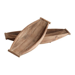 "Cyan Lighting - Cyan Lighting-05799-Dory - 25"" Decorative Tray - Rod Length(s): 20.50  Natural Finish  Material: Wood"