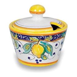 Ceramic - Umbria - Italian Lemons Sugar Bowl - Umbria - Italian Lemons Sugar Bowl