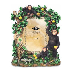 WL - 4 x 6 Inch Chimpanzee in Green Vine Tree with Fruit Photo Frame - This gorgeous 4 x 6 Inch Chimpanzee in Green Vine Tree with Fruit Photo Frame has the finest details and highest quality you will find anywhere! 4 x 6 Inch Chimpanzee in Green Vine Tree with Fruit Photo Frame is truly remarkable.