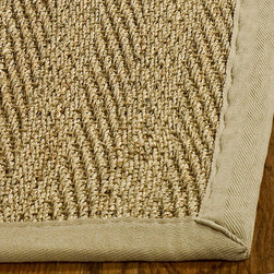 Safavieh - Hand-woven Sisal Natural/ Beige Seagrass Runner (2'6 x 14') - Dress up any space with this natural hand-woven rug made from seagrass with a cotton backing. The fringeless border on this rug gives it a clean look.