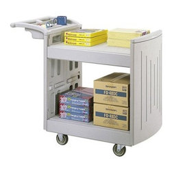 Safco 5330GR 2-Shelf Molded Utility Cart - Gray - About Safco ProductsSafco products were specifically developed to meet the changing needs of the business world, offering real design without great expense. Each product is designed to fit the needs of individuals and the way they work, by enhancing comfort and meeting the modern needs of organization in the workplace. These products encourage work-area efficiency and ultimately, work-life efficiency: from schools and universities, to hospitals and clinics, from small offices and businesses to corporations and large institutions, airports, restaurants, and malls. Safco continues to offer new colors, new styles, and new solutions according to market trends and the ever-changing needs of business life.