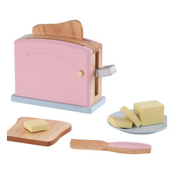 """KidKraft - Kidkraft Kids Children Home Indoor Pretend Play Cooking Toy Pastel Toaster Set - Children often want to help their parents in the kitchen. With our new Pastel Toaster Set your young helpers will be able to take care of the toast all on their own. The bright colors and rich details of this wooden 9-piece set are sure to keep imaginations running wild. Dimension: 28.75""""Lx 13.7""""Wx 37.25""""H"""