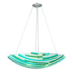 """Meyda Lighting - Meyda Lighting 108133 30""""W La Spiaggia Fused Glass Inverted Pendant - Meyda Lighting 108133 30""""W La Spiaggia Fused Glass Inverted Pendant"""