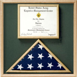 Flag and certificate Combination Box Flag Certificate Display - Flag and certificate Combination Box - Flag / Certificate Display
