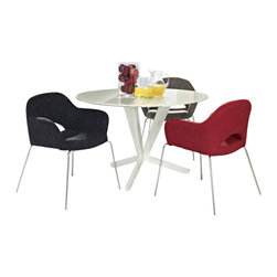 Modway - Modway EEI-872 Cordelia Dining Chairs Set of 3 in Multicolored - Participate in renewed growth and actualization with the Cordelia Side Chair. Sit comfortably as an aspirational back and up-surging arms compliment a dual-tone tweed fabric cushion. Sleek chrome legs solidify the progress as unlocked potentials are established with ease.