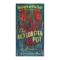 Red Horse Signs - Lobster Pot Wall Art Multicolor - PP-936 - Shop for Framed Art and Posters from Hayneedle.com! About Red Horse SignsSpecializing in vintage signs that recall older simpler times Red Horse Signs offers hundreds of possibilities for giving your home a vintage appeal. Each sign is hand painted and then reproductions are printed on to distressed hardwood panels for a rustic antique look. Take you home back to calmer times with Red Horse Signs.