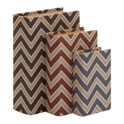Unique Designed And Trendy Wood Vinyl Book Box, Set of 3 - Description: