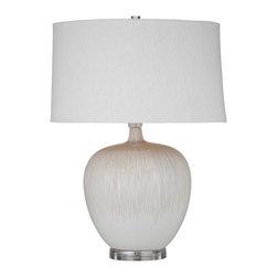 Bassett Mirror - Bassett Mirror Arcadia Table Lamp L2757TEC - Bassett Mirror Arcadia Table Lamp L2757TEC