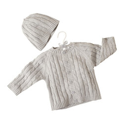 Elegant Baby - Cable Knit Sweater & Hat Set - Cable Knit Sweater & Hat Set