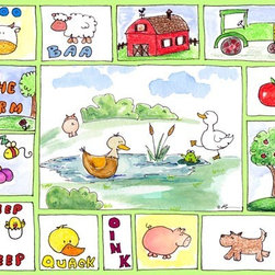 Oh How Cute Kids by Serena Bowman - All Around the Barnyard - Ducks, Ready To Hang Canvas Kid's Wall Decor, 24 X 30 - Every kid is unique and special in their own way so why shouldn't their wall decor be so as well! With our extensive selection of canvas wall art for kids, from princesses to spaceships and cowboys to travel girls, we'll help you find that perfect piece for your special one.  Or fill the entire room with our imaginative art, every canvas is part of a coordinating series, an easy way to provide a complete and unified look for any room.