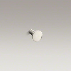 KOHLER - KOHLER Purist(R) Stillness(R) cabinet knob - The minimalist design of Purist faucets and accessories complements both traditional and contemporary decors. Crafted of premium metal for years of reliable use, this cabinet knob or drawer pull makes an elegant accent to your bathroom furniture, blending