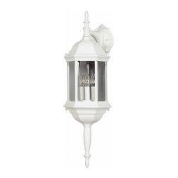 Kenroy - Kenroy 16267WH Custom Fit 3-Light Wall Lantern - Kenroy 16267WH Custom Fit 3-Light Wall Lantern