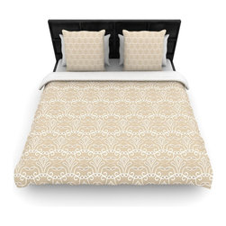 "Kess InHouse - Julia Grifol ""Soft Deco"" Brown Tan Cotton Duvet Cover (Queen, 88"" x 88"") - Rest in comfort among this artistically inclined cotton blend duvet cover. This duvet cover is as light as a feather! You will be sure to be the envy of all of your guests with this aesthetically pleasing duvet. We highly recommend washing this as many times as you like as this material will not fade or lose comfort. Cotton blended, this duvet cover is not only beautiful and artistic but can be used year round with a duvet insert! Add our cotton shams to make your bed complete and looking stylish and artistic!"