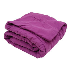 Bedding Web Store - Oversized Down Alternative Comforter 90 GSM-Purple - High Quality Oversized Down Alternative Comforter Super-Soft 90 GSM