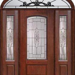 """Prehung Sidelights-Transom Door 80 Fiberglass Versailles Arch Lite - SKU#MCR06602_DFAV1-2EUBrandGlassCraftDoor TypeExteriorManufacturer CollectionArch Lite Entry DoorsDoor ModelVersaillesDoor MaterialFiberglassWoodgrainVeneerPrice5235Door Size Options32"""" + 2( 14"""")[5'-0""""]  $036"""" + 2( 14"""")[5'-4""""]  $036"""" + 2( 12"""")[5'-0""""]  $0Core TypeDoor StyleDoor Lite StyleArch LiteDoor Panel Style1 PanelHome Style MatchingDoor ConstructionPrehanging OptionsPrehungPrehung ConfigurationDoor with Two Sidelites and Elliptical TransomDoor Thickness (Inches)1.75Glass Thickness (Inches)Glass TypeDouble GlazedGlass CamingSatin NickelGlass FeaturesTempered glassGlass StyleGlass TextureGlass ObscurityDoor FeaturesDoor ApprovalsEnergy Star , TCEQ , Wind-load Rated , AMD , NFRC-IG , IRC , NFRC-Safety GlassDoor FinishesDoor AccessoriesWeight (lbs)698Crating Size36"""" (w)x 108"""" (l)x 89"""" (h)Lead TimeSlab Doors: 7 Business DaysPrehung:14 Business DaysPrefinished, PreHung:21 Business DaysWarrantyFive (5) years limited warranty for the Fiberglass FinishThree (3) years limited warranty for MasterGrain Door Panel"""