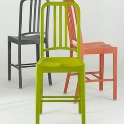 111 Navy Chair By Emeco - The 111 Navy Chair by Emeco was developed in cooperation with Coca-Cola. Made from 111 recycled plastic bottles and 66 years of Emeco know-how.