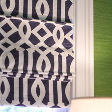Contemporary Roman Blinds by Evars + Anderson Interior Design