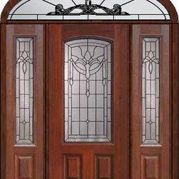"""Prehung Sidelights-Transom Door 80 Fiberglass Palacio Arch Lite - SKU#MCT06195_DFAP1-2EUBrandGlassCraftDoor TypeExteriorManufacturer CollectionArch Lite Entry DoorsDoor ModelPalacioDoor MaterialFiberglassWoodgrainVeneerPrice5235Door Size Options32"""" + 2( 14"""")[5'-0""""]  $036"""" + 2( 14"""")[5'-4""""]  $036"""" + 2( 12"""")[5'-0""""]  $0Core TypeDoor StyleDoor Lite StyleArch LiteDoor Panel Style2 PanelHome Style MatchingDoor ConstructionPrehanging OptionsPrehungPrehung ConfigurationDoor with Two Sidelites and Elliptical TransomDoor Thickness (Inches)1.75Glass Thickness (Inches)Glass TypeDouble GlazedGlass CamingBlackGlass FeaturesTempered glassGlass StyleGlass TextureGlass ObscurityDoor FeaturesDoor ApprovalsEnergy Star , TCEQ , Wind-load Rated , AMD , NFRC-IG , IRC , NFRC-Safety GlassDoor FinishesDoor AccessoriesWeight (lbs)698Crating Size36"""" (w)x 108"""" (l)x 89"""" (h)Lead TimeSlab Doors: 7 Business DaysPrehung:14 Business DaysPrefinished, PreHung:21 Business DaysWarrantyFive (5) years limited warranty for the Fiberglass FinishThree (3) years limited warranty for MasterGrain Door Panel"""