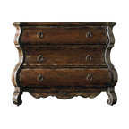 Hooker Furniture - Hooker Furniture Wakefield Three-Drawer Shaped Chest in Dark Walnut - Hooker Furniture - Chests - 501885122 - This 3 Drawer Shaped Chest in distressed dark walnut finish is traditionally designed to fit your sophisticated style.