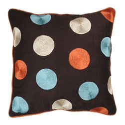 Rizzy Home - Brown and Aqua Decorative Accent Pillows (Set of 2) - T02096 - Set of 2 Pillows.
