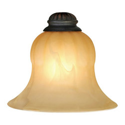 Golden Lighting - Mayfair Glass Shade - Bulb not included. Creme brule color. 7.5 in. Dia. x 5.25 in. H. Warranty