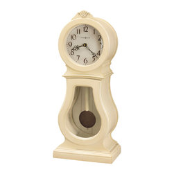 Howard Miller - Howard Miller Coconut Finished Triple Chime Mantel Clock | AUDREY MANTEL - 635163 AUDREY MANTEL