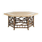 Lexington - Tommy Bahama Island Estate Veranda Cocktail Table - The cocktail table is often unappreciated for its supporting role to anchor a seating group, provide additional surface area for refreshments, keep the burning candle at a safe distance or add ambiant lighting, and even a place to kick up your feet.