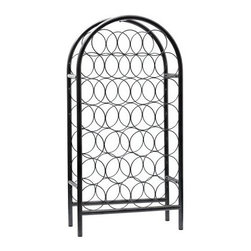 Old Dutch Pewter 27 Bottle Classic Arch Wine Rack - Show your wine collection a little love with the Old Dutch Pewter 27 Bottle Classic Arch Wine Rack. Display and store 27 bottles of your favorite vintages with this lovely rack. The pewter-look powder-coat finish and easy style make it perfect for any decor. About Old Dutch InternationalFamous for their copperware Old Dutch International Ltd. has been supplying the best in imported housewares and giftware to fine retailers throughout America since 1950. They offer a large assortment of housewares including bakers racks trivets and pot racks in materials like chrome colorful enamel and stainless steel. Other product lines include wine racks serving trays specialty cookware clocks and other home accessories. Old Dutch warehouses and distributes their products from a 30 000 square foot facility in Saddle Brook N.J.
