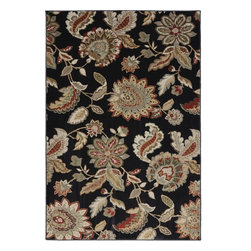 "American Rug Craftsmen - Madison James Parks Black Floral 3'6"" x 5'6"" American Rug Craftsmen (9366) - Our Madison collection takes a modern approach to classic pattern and design. This collection features a variety of our best-selling patterns in a fresh, new color palette. With a combination of time-honored motifs, bold florals and modern geometrics, this collection provides options over every taste. Manufactured entirely in the United States, American Rug Craftsmen"