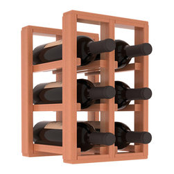 Wine Racks America® - 6 Bottle Counter Top/Pantry Wine Rack in Redwood, Satin Finish - These counter top wine racks are ideal for any pantry or kitchen setting.  These wine racks are also great for maximizing odd-sized/unused storage space.  They are available in furniture grade Ponderosa Pine, or Premium Redwood along with optional 6 stains and satin finish.  With 1-10 columns available, these racks will accommodate most any space!!
