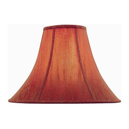 Lite Source - Red Bell Shade (7 in. Dia.) - Choose Size: 7 in. Dia.. 6 in. Shade:. Shade top: 6 in. Dia.. Shade bottom: 16 in. Dia.. Shade height: 12 in.. Weight: 1.9 lbs.. 7 in. Shade:. Shade top: 7 in. Dia.. Shade bottom: 18 in. Dia.. Shade height: 12.5 in.. Weight: 2.13 lbs.