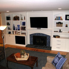 Traditional Family Room by May Construction, Inc.