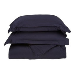 530 Thread Count Egyptian Cotton Full/Queen Navy Blue Solid Duvet Cover Set - 530 Thread Count Egyptian Cotton Full/Queen Light Blue Solid Duvet Cover Set