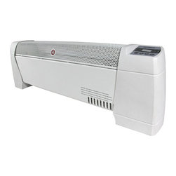 Optimus - 30-Inch Heater Baseboard Convection Digital Display - Turn up the heat to keep the chill at bay with this baseboard heater. It has a built-in carrying handle so you can move it from room to room with ease. And, you won't have to worry about it overheating or tipping over, thanks to thoughtful safety features.