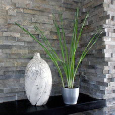Modern Fireplaces by aZura Stoneworks