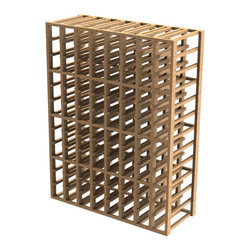 EcoWineracks 8 Column Upper Individual Bottle Rack, Golden Color, Clear Acrylic - EcoWineracks are the worlds only traditional style wine racks made from non-forested and sustainable bamboo. Bamboo is superior to wood in strength and durability, is non-warping and has consistent grain.