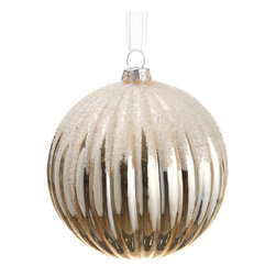 Silk Plants Direct - Silk Plants Direct Beaded Glass Ball Ornament (Pack of 12) - Ivory - Silk Plants Direct specializes in manufacturing, design and supply of the most life-like, premium quality artificial plants, trees, flowers, arrangements, topiaries and containers for home, office and commercial use. Our Beaded Glass Ball Ornament includes the following: