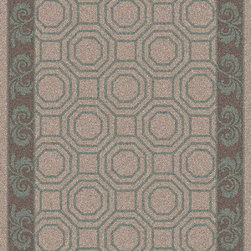 "Surya - Surya Bordeaux Transitional Global Ash Gray 8' x 11' Area Rug - Since 1976 Surya has established itself as one of India's leading producers of fine hand-knotted, hand-tufted, and flat-woven rugs. Their products are sold in the U.S.A. at respected department and specialty stores. The company is known for its quality, value, dedication, and innovation. This includes responsibility for the entire process - spinning, dyeing, weaving, and finishing. Surya prides itself on using the best raw material available for the production of their rugs. They are proud members of ""Wools of New Zealand."" From design concept through production, a Surya family member is involved, making sure that the highest standards are being met at each level. Surya works with top designers and constantly updates their designs and color palettes to match and set the trends in design and fashion for the home. Surya always means a fine choice in rugs. Rug Measurements are: 8' x 11', Rug is made of: 100% New Zealand Wool, Color is: Ash Gray."