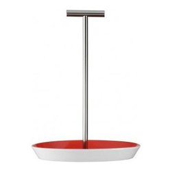 Arzberg - Tric Tray with Stainless Steel Handle in Hot Red - Features: -Available in Hot Red. -As a condiment holder, it keeps the salt and pepper and creamer and sugar neatly on the table. -Easy for serving or on a buffet. -Think of incorporating a contrasting color here. -Winner of iF, Red Dot, Design Plus and Good Design Awards. -Awarded Gold Medal, DDC Designpreis. -Made in Germany.