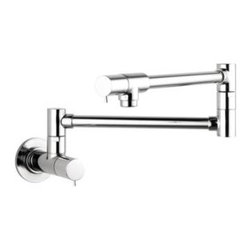 Hansgrohe - Hansgrohe - Talis S Potfiller Wall Mounted - 04057000 - Chrome - The Hansgrohe Talis Wall-Mounted Pot Filler in Chrome will add a bright, reflective, cool gray metallic look and traditional design to your kitchen. For your convenience, the pot filler offers a swing-arm spout and 2 ceramic shut-off valves. For easy placement, the pot filler has a 1/2 in. connection. The pot filler is designed to mount to a wall for single-hole installation (instructions included).