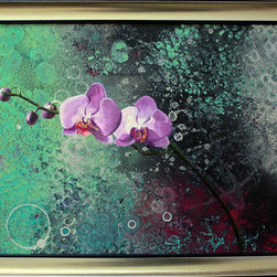 """Orchid Ll"" (Original) By Dyd Art - A Contrast Between Realism And Abstract."