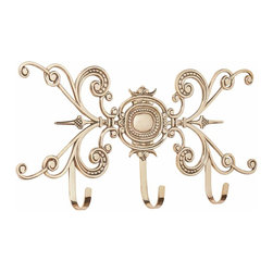 "Renovators Supply - Hooks Bright Solid Brass 24"" L x 12"" H Coat Hook 