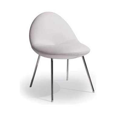 Little Conco Chair By Artifort - Little Conco could a chair be as streamlined as the body of an aero plane? A body that looks rounded, similar to a boulder being eroded for a long time in the sea before it reaches its ultimate shape. The base strengthens the lightness of the design by its shape. The knot is an aesthetical feature but also a technical detail. On the one side a point where all the curved lines meet and on the other side a place where the fabric can be held together. Designed by Michiel van der Kley, 2006