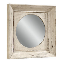 Bassett Mirror - Vintage Weathered Square Wall Mirror - Vintage Weathered Finish - Square. Measures: 27 in. W x 27 in. H.