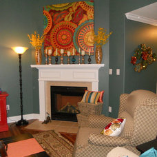 Eclectic Living Room by Vintage Charm and  Restoration