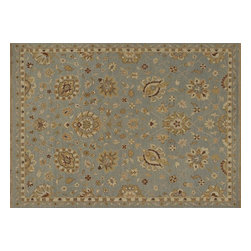 """Loloi - Loloi Laurent Le-01 Sterling Blue Rug 2'-0"""" X 3'-0"""" - Hand-knotted of 100% wool from India, the Laurent Collection features a series of soumak rugs that add a touch of casual elegance to traditional and transitional rooms alike. Available in a series of hand-dyed earthy colors, Laurent combines a well t"""