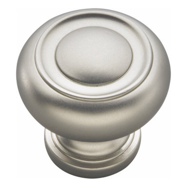 Belwith / Hickory - Belwith Hickory 1-1/4 In. Cottage Satin Nickel Cabinet Knob P3151-SN Hardware - Bridges contemporary and traditional design.  Offering a deep rooted sense of history in some, with an updated feel and cleaner lines.  Crate & Barrel and Pottery Barn could be considered transitional looks.. Product Name: 1-1/4 In. Cottage Satin Nickel Cabinet KnobFinished: Satin Nickel FinishIncluded: Mounting Hardware IncludedSize . Type: DiameterScrew Center to Center in Inches: Diamter: 1.25Diamension Length in Inches: 1.25Diamension Width Inches: 1.25Diamension Height Inches: 1.19Weight in OZ: 2.6Product . Type: KnobsStyle: TransitionalFinish Name: Satin NickelAppearance . Finish: Satin (Brushed)Color Palette: Silvers/GreysBasic Shape: Geometric/Angular
